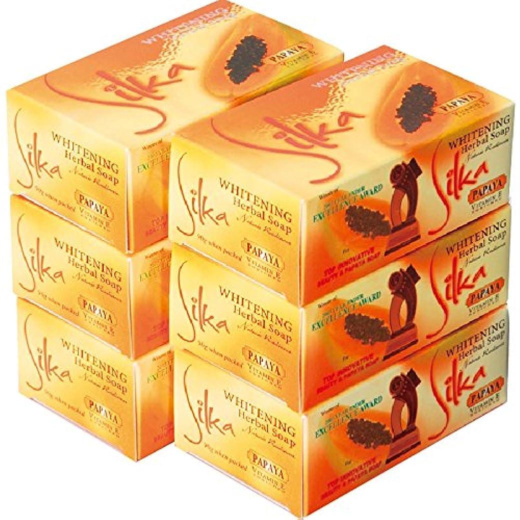フォーラムビリーやりすぎフィリピン 土産 シルカ パパイヤ石けん 6コセット (海外旅行 フィリピン お土産)