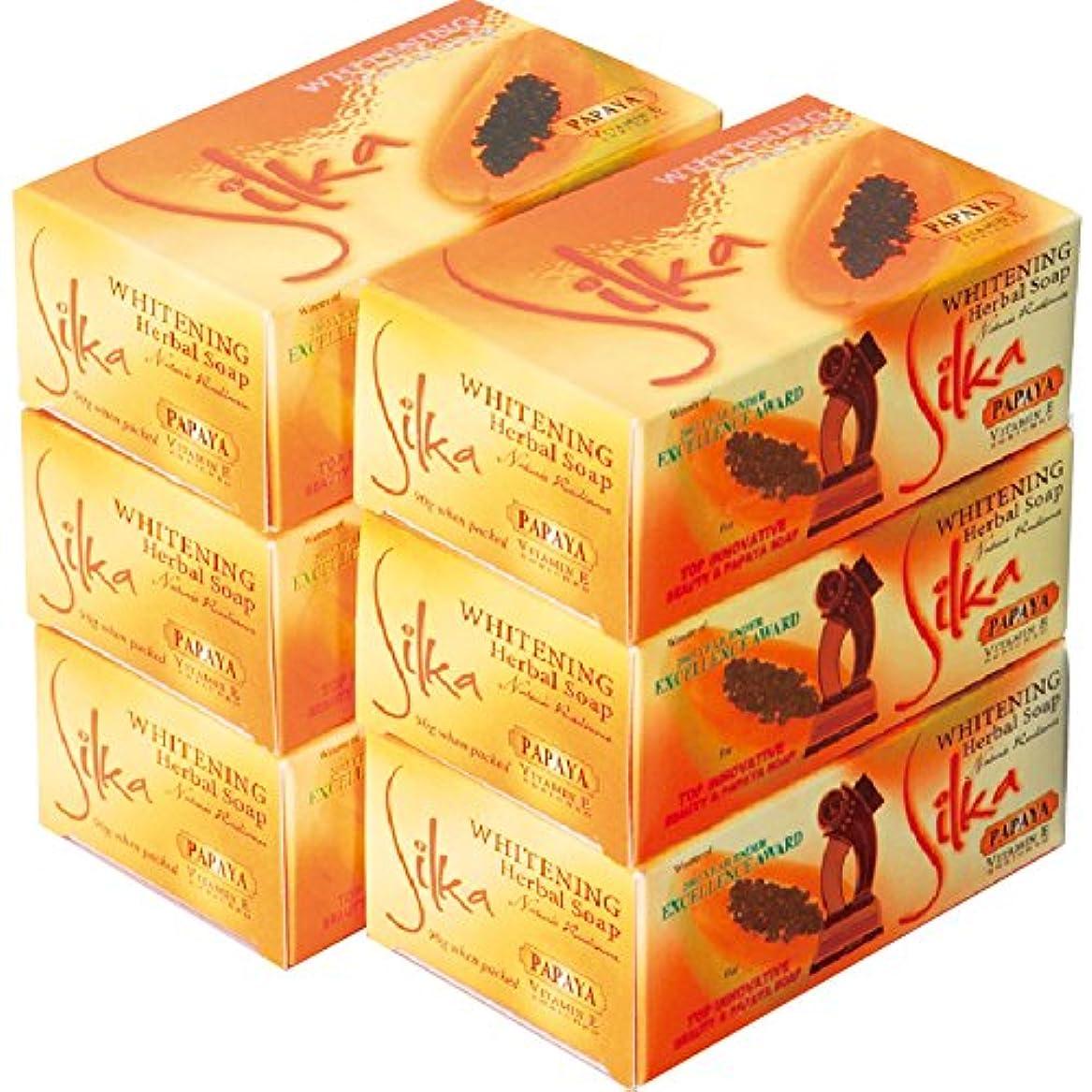 チューインガムアリスマトンフィリピン 土産 シルカ パパイヤ石けん 6コセット (海外旅行 フィリピン お土産)