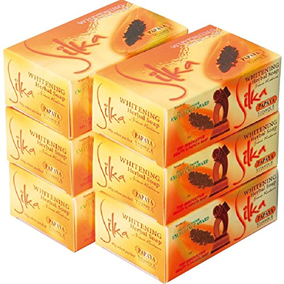 飼いならすカヌートラフフィリピン 土産 シルカ パパイヤ石けん 6コセット (海外旅行 フィリピン お土産)