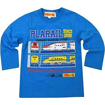 トミカ プラレール 長袖 Tシャツ ベビー キッズ 男の子 fo-nt04(90cm-PLARAIL:サックス)