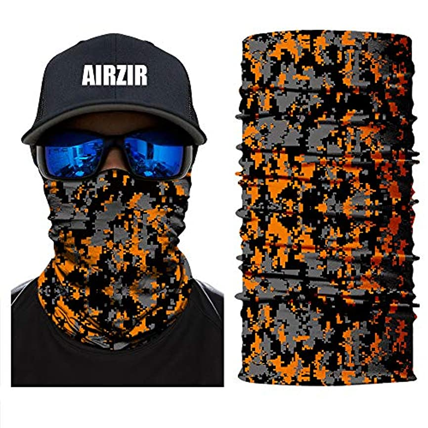診断する把握意欲Airzir プレミアム3D通気性シームレスチューブフェイスマスク 防塵UV保護 AIR-FM-PP