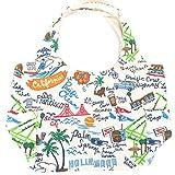 ハワイアン雑貨/ハワイ 雑貨【Hulalani】キャンバス ミニトートバッグ ホワイト( LA-H1458) 【お土産】