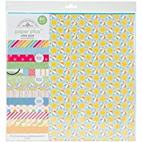 "Doodlebug 5177 Paper Plus Value Supplies (12 Pack), 12"" x 12"", Summer, Multicolor"