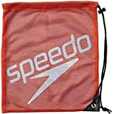 Speedo(スピード) プールバッグ バッグ プール 水泳 メッシュバック M SD96B07 レッド×ジャパンブルー RB