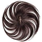 FEIYI WIGS部分ウィッグ ヘアピース つけ毛 100%人毛 エクステ ウィッグ ストレート総手織り医療用 通気…