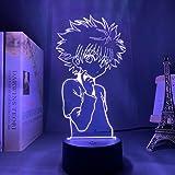 Anime Lamp 3D Hisoka Killua LED Night Light Gon Zoldyck Illusion Light Color Changing Atmosphere Lamp for Kids Children's Gif