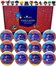 Superhero Bubble Bath Bombs for Kids with Surprise Toys Inside by Two Sisters Spa. Large 99% Natural Fizzies i