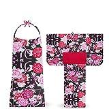 凪 nagi ブランド 子供 2way 浴衣 ドレス 3点セット 6柄 3サイズ (100cm, D-4)