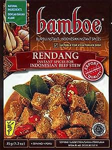 Bamboe RENDANG インドネシア風ビーフシチュー ルンダンの素 4袋セット