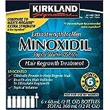 KIRKLAND SIGNATURE Minoxidil 5 Percentage Extra Strength Hair Loss Regrowth Treatment Men, Pack Of 1