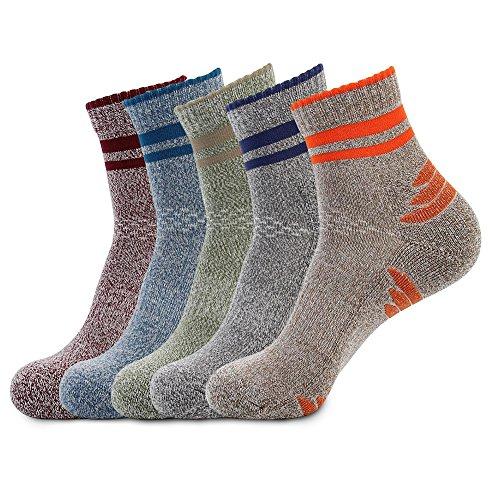 メンズ ソックス 男性靴下 登山 トレッキング アウトドア 5足組 24- 28 cm 通気吸汗 抗菌防臭 中厚手