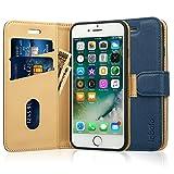Labato iphone8ケース iphone7ケース 手帳型 人気 カード収納 財布型 スタンド機能 耐衝撃 耐摩擦 TPU シリコン 高級PUレザー アイフォン7ケース 100%手作り iPhone7 カバー マグネット式 ブランド スマホケース メーカー直営 (lbt-IP7-17D44, ディープブルー)