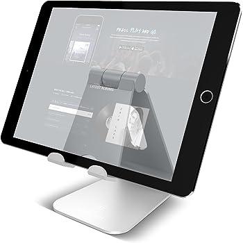 タブレット スタンド 角度調整可能, Lomicall スタンド : 充電スタンド, ホルダー 対応 タブレット 卓上 (4~10''), アイフォン, アイパッド, Nintendo Switch, Qua Tab PZ, MediaPad, ASUS ZenPad, Lenovo Yoga Tab, Fire HD 8, Xperia Tablet Z 対応(銀)
