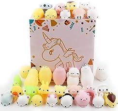 DEKIRU スクイーズ 低反発 30個セット squishy toys スクイーズおもちゃ ストレス解消おもちゃ 子供 プレゼント (30個ランダム)