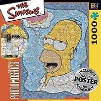 Simpsons Photomosaic Homer with Donut Jigsaw Puzzle 1000pc by Robert Silvers Photomosaics