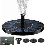 Solar Fountain Water Pump Bird Bath Powered Panel Spray Head Solar Powered Free Standing Floating Water Pump Kit for Garden,