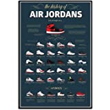 YGYT Painting Print Sneaker Michael Jordan Shoes Fashion AJ History Air Max On Canvas Poster Modular Picture for Living Room