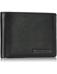 財布メンズ革製–二つ折り財布–大容量三つ折RFID信号マスク