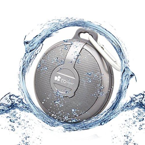 EC Technology Bluetoothスピーカー 通話可 フック付け 防水防塵 高音質 小型