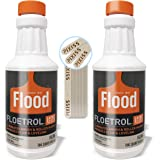 Floetrol Pouring Medium for Acrylic Paint | 1 Quart Bottles (2-Pack) | Flood Flotrol Additive | 20 Pixiss Wood Mixing Sticks