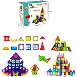 Magmetic Building Blocks 70 PIECE Tiles Clear Windows 3D Set Construction Creativity Imagination Educational Toys