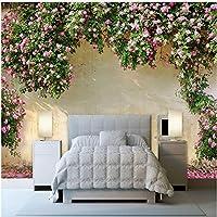 Wxmca カスタム壁画壁紙3Dローズ牧歌的な壁絵画リビングルームの寝室のテーマホテルの背景壁の装飾-350X250Cm
