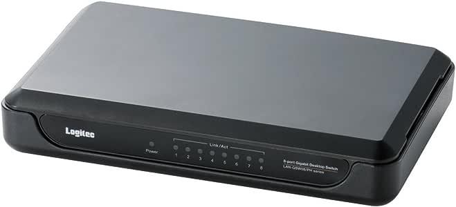 【2010年モデル】ロジテック スイッチングハブ(LANハブ) Giga対応 8ポート AC電源 LAN-GSW08/PHB