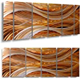 Handmade Abstract Group Contemporary Metal Wall Art With Soft Color (24 x 65 IN)