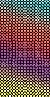 ポスター ウォールステッカー 長方形 シール式ステッカー 飾り 30×16cm Ssize 壁 インテリア おしゃれ 剥がせる wall sticker poster その他 カラフル レインボー 水玉 007424