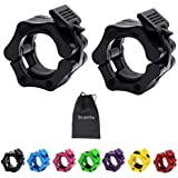 Strainho Olympic Weight Bar Clips - 2 inch Barbell Collars - Quick Release Olympic Barbell Clamp for Weightlifting, Olympic L