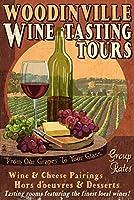 ウッディンビル–Wine Tasting Vintage Sign 9 x 12 Art Print LANT-54535-9x12