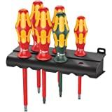 Wera 160 I/168 I/6 Rack Screwdriver Set Kraft Form Plus Series 100 and Rack 6 Pieces, 6 Pieces