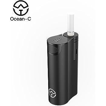 Ocean-C IQOS互換機 大容量加熱式電子タバコ 25本連続吸えるアイコス互換機 バイブレーション機能搭載 誤操作防止可能 自動クリーニング機能搭載電子タバコ互換品 (ブラック)