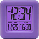 Equity by La Crosse 70904 Soft Purple Cube LCD Alarm Clock 3""