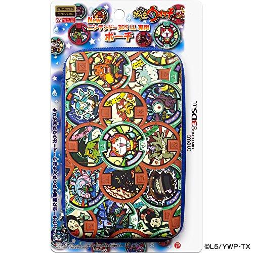 妖怪ウォッチ new NINTENDO 3DSLL 専用 ポーチ メダル柄ブルーVer.