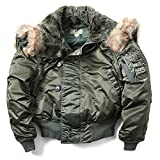 US Military Air Force n-2b Parka Pilot BomberジャケットコートオリーブグリーンL Large