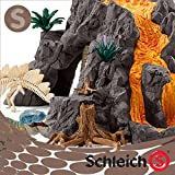 シュライヒ 大火山とティラノサウルス恐竜ビッグセッ...