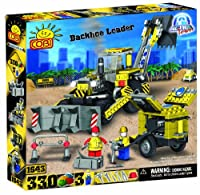[コビー]COBI Action Town Construction Backhoe Loader, 330 Piece Set COB1643 [並行輸入品]
