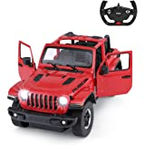 Jeep Off-Road Remote Control Car, 1:14 Jeep Wrangler JL RC Off-Road Racing Vehicle Toy Car for Kids Adults, Spring Suspension