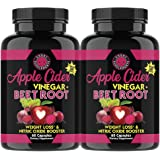Angry Supplements Apple Cider Vinegar + Beet Root Capsules, All-Natural Detox Pills, Nitric Oxide + Energy Booster, Vital Red