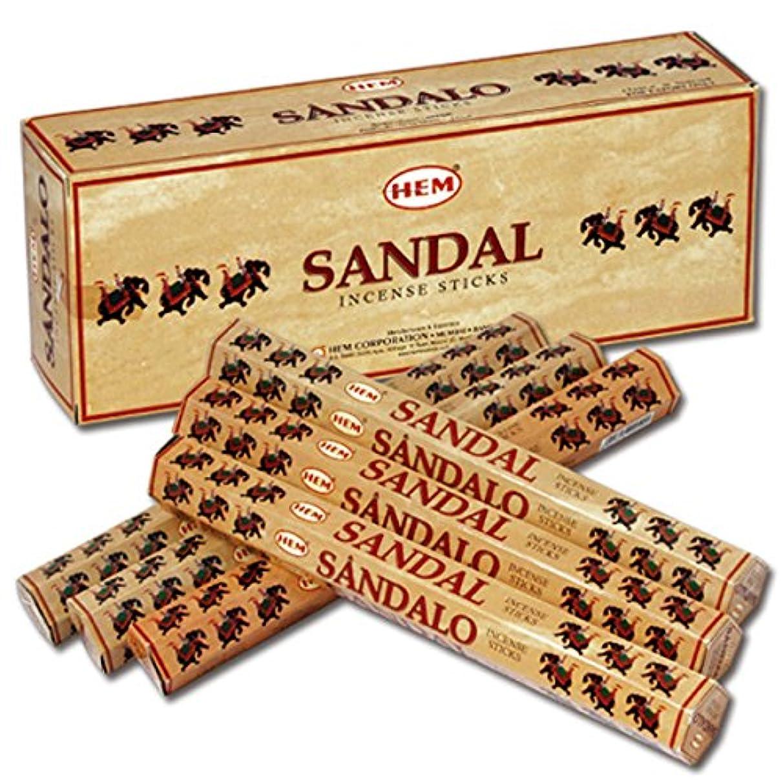 社交的枕煙HEM(ヘム) サンダル SANDAL スティックタイプ お香 6筒 セット [並行輸入品]