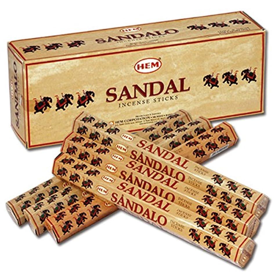 有害な歴史家抵抗力があるHEM(ヘム) サンダル SANDAL スティックタイプ お香 6筒 セット [並行輸入品]