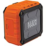 Klein Tools AEPJS1 Wireless Jobsite Speaker, Connects wirelessly via Bluetooth or a wired auxiliary input, Orange, Black, Gre