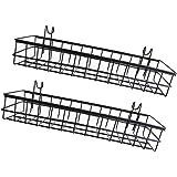 バスケット シェルフラック ストレージ 収納ツール 便利グッズ 丈夫 耐久性 金属構造 2個セット