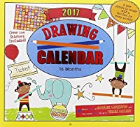 2017 Monthly Wall Calendar - Drawing - Kids Children Boys Girls [並行輸入品]