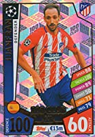 Match Attax Champions League 17/ 18Juanfran 100Club Tradingカード–Atletico Madrid 17/ 18