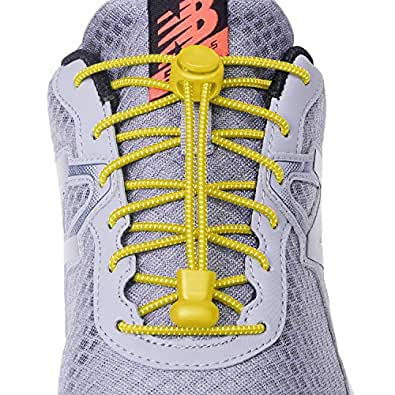 「3足」結ばない靴ひも,靴の着脱を簡単に レースロック 伸縮するワンタッチゴム靴紐 お子様、大人、ご高齢者、アスリート、靴紐を結ぶのが苦手な方 反射素材で夜間でも安心
