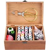 木製 ソーイングボックス、裁縫セット大人 ソーイングセット 大人用 おしゃれ さいほうセット 裁縫箱 木製 家庭科 男女…