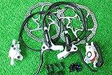 シマノ SHIMANO 油圧ディスクブレーキ BL-M355 BR-M355 160mmサイズローター付 ホワイト 前後セット 自転車1台分