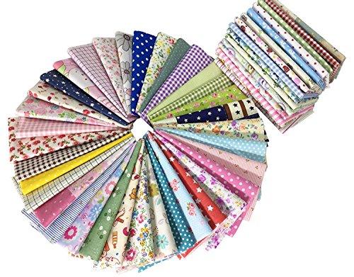 四角形シリーズ カットクロス 生地 ハギレ DIY手作り 布地 花柄 綿 パッチワーク布 30×30cm 50枚セット